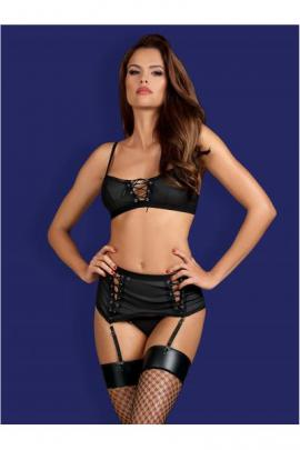 Set sexy Rebella 3-pcs Negru